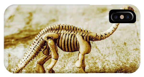 Object iPhone Case - A Diploducus Bone Display by Jorgo Photography - Wall Art Gallery