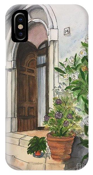 A Door In Castellucco, Italy IPhone Case