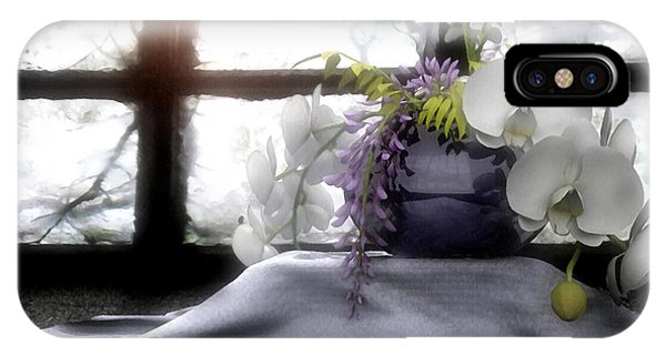 Floral Arrangement iPhone Case - A Dream Of Orchids by Cynthia Decker