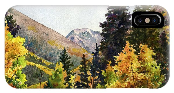 Rocky Mountain iPhone Case - A Drive In The Mountains by Anne Gifford