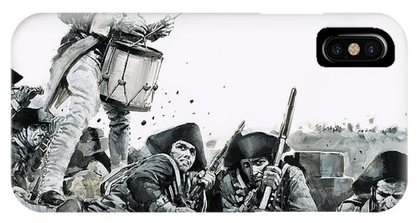 Yorktown iPhone Case - A Drummer Beats A Request For Parley At The Battle Of Yorktown by Graham Coton