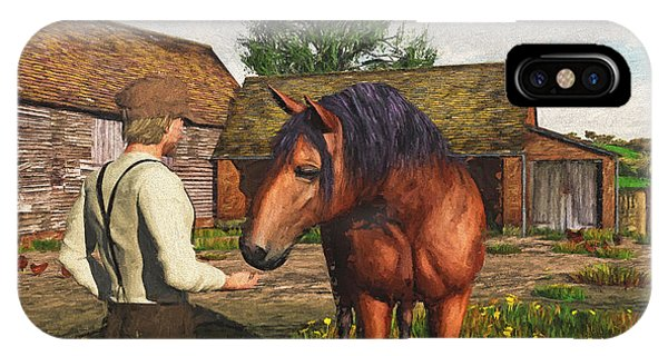 A Farmer And His Horse IPhone Case
