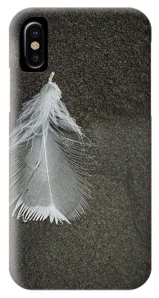 A Feather At The Edge Of The Water IPhone Case