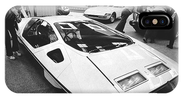 1972 iPhone Case - A Ferrari Modulo At Auto Show by Underwood Archives