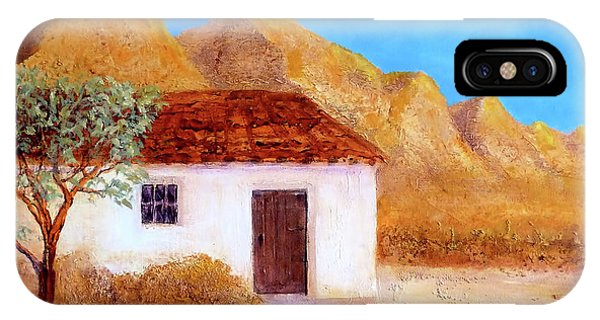 IPhone Case featuring the painting A Finca In Spain by Valerie Anne Kelly