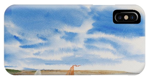 A Fine Sailing Breeze On The River Derwent IPhone Case