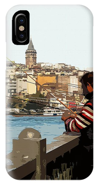 A Fisherman In Istanbul IPhone Case