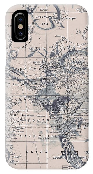 Old Fashioned iPhone Case - A Fishermans Map by Jorgo Photography - Wall Art Gallery