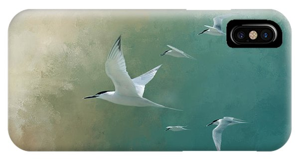 Fowl iPhone Case - A Flight Of Terns by Marvin Spates