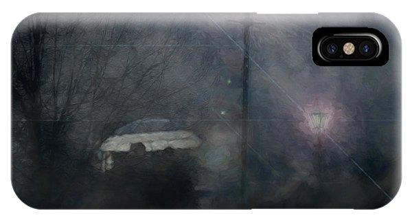 A Foggy Night Romance IPhone Case