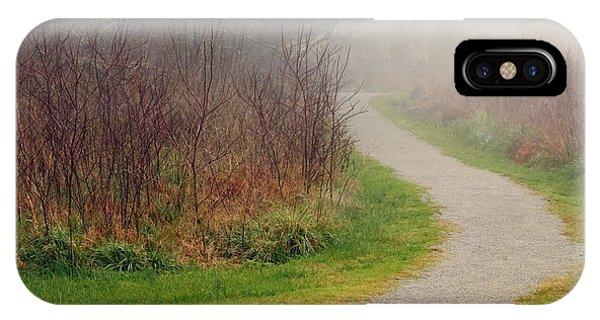 A Foggy Path IPhone Case