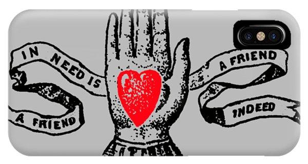Love iPhone Case - A Friend In Need Is A Friend In Deed Tee by Edward Fielding