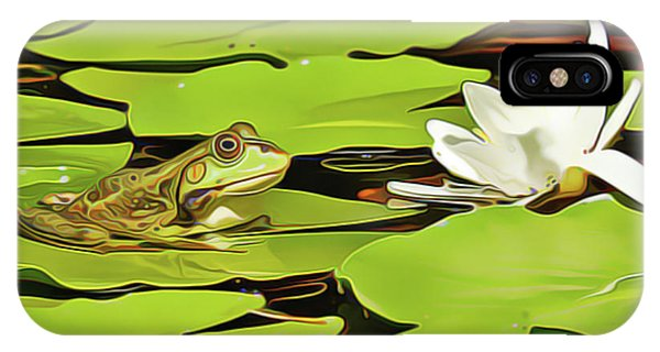 A Frog's Peace IPhone Case