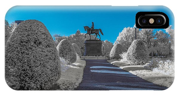 A Frosted Boston Public Garden IPhone Case