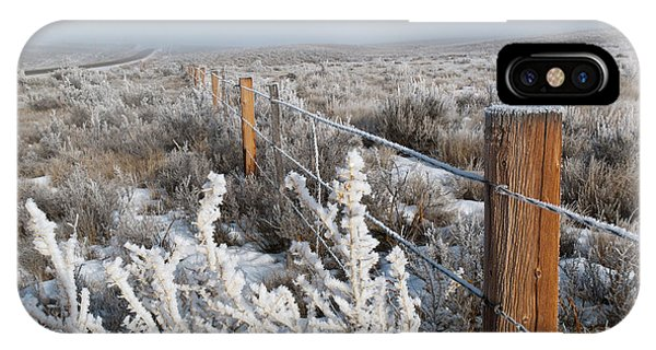 A Frosty And Foggy Morning On The Way To Steamboat Springs IPhone Case