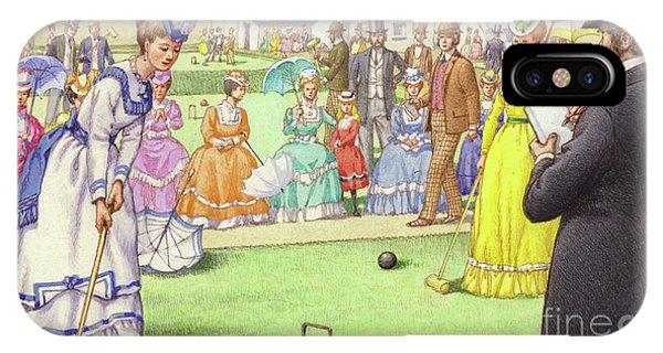 A Game Of Croquet At The All England Club At Wimbledon IPhone Case