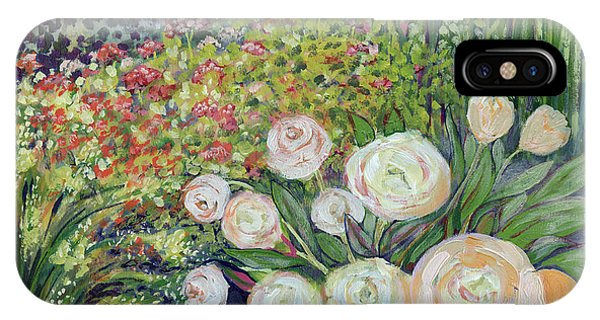 Impressionism iPhone X Case - A Garden Romance by Jennifer Lommers