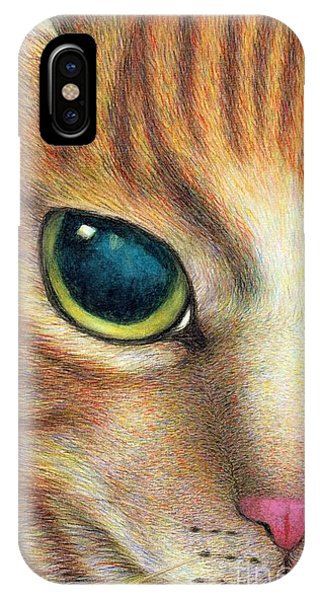A Ginger Cat Face IPhone Case