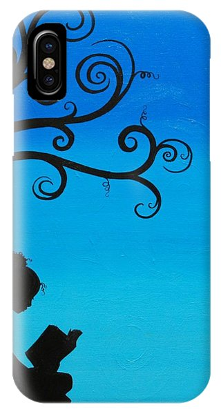 A Girl And Her Book IPhone Case