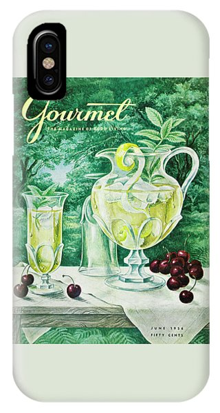 Magazine Cover iPhone Case - A Gourmet Cover Of Glassware by Hilary Knight