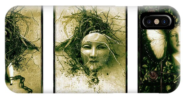 A Graft In Winter Triptych IPhone Case