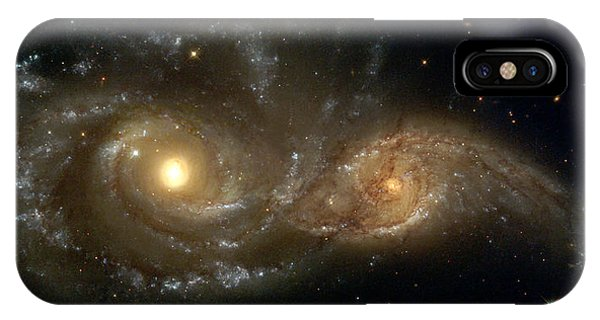 A Grazing Encounter Between Two Spiral Galaxies IPhone Case