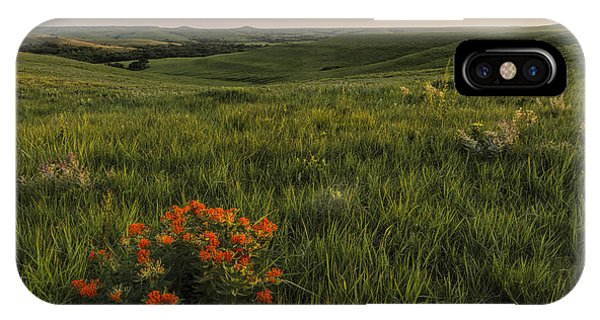 A Great View Of The Flint Hills IPhone Case