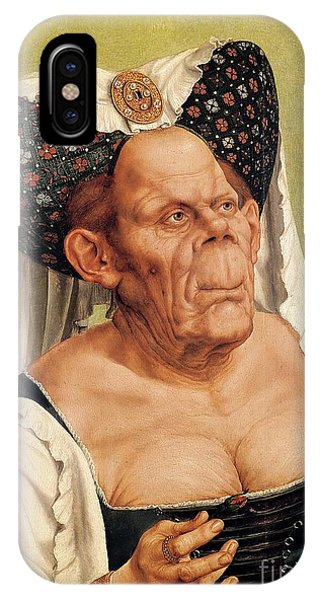 Manly iPhone Case - A Grotesque Old Woman by Quentin Massys