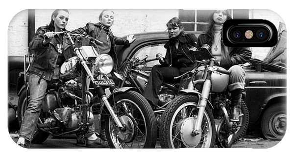 A Group Of Women Associated With The Hells Angels, 1973. IPhone Case