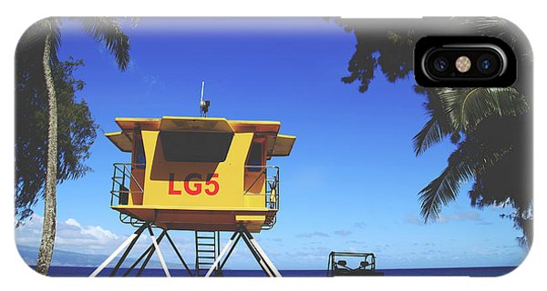 A Hawaiian Beach Day IPhone Case
