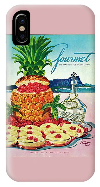 A Hawaiian Scene With Pineapple Slices IPhone Case