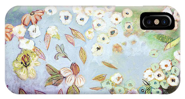 Hummingbirds iPhone Case - A Hidden Lagoon by Jennifer Lommers