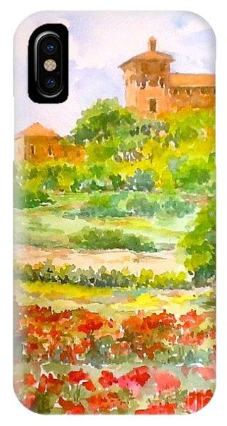 A Hillside Near San Gimignano IPhone Case