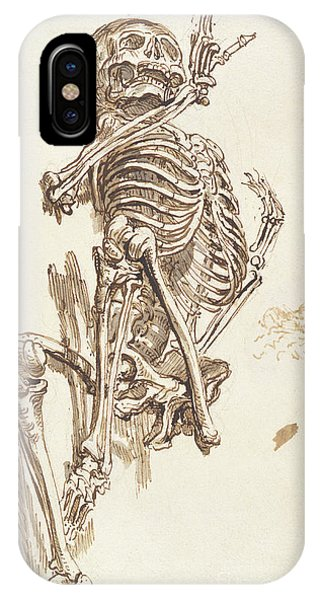 Bone iPhone Case - A Human Skeleton by James Ward