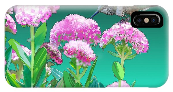 A Hummingbird Visits IPhone Case