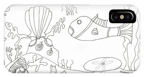 A Jellie And Sea Creatures IPhone Case