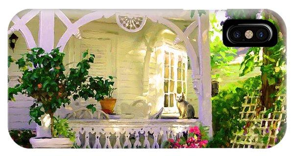 A Key West Porch IPhone Case