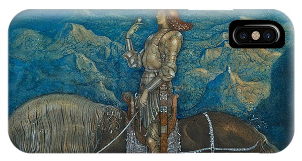 Swedish Painters iPhone Case - A Knight Rode On by John Bauer