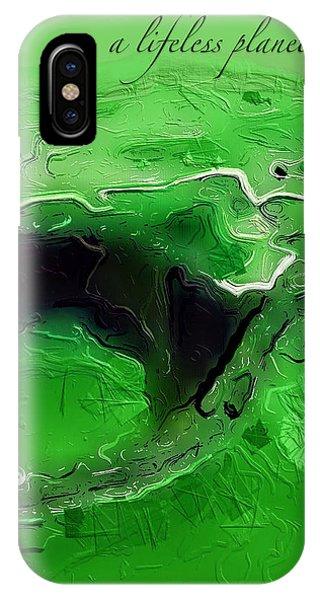 A Lifeless Planet Green IPhone Case