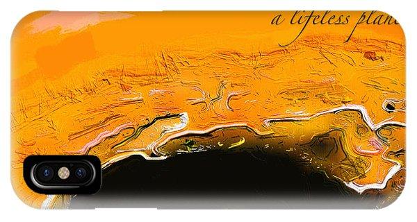 A Lifeless Planet Orange IPhone Case