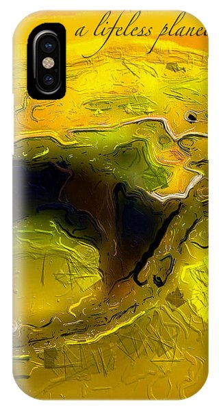 A Lifeless Planet Yellow IPhone Case