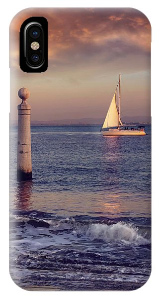 A Lisbon Sunset By The Tagus River IPhone Case