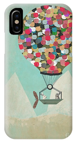Hot Air Balloons iPhone Case - A Little Adventure by Bri Buckley