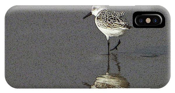 A Little Bird On A Beach IPhone Case