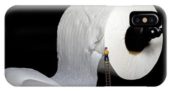 Toilet iPhone Case - A Little Help by Sandi Kroll