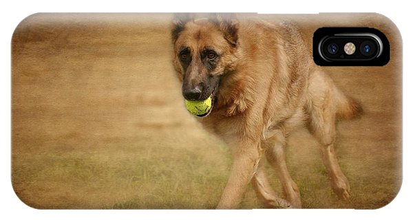 IPhone Case featuring the photograph A Little Playtime - German Shepherd Dog by Angie Tirado
