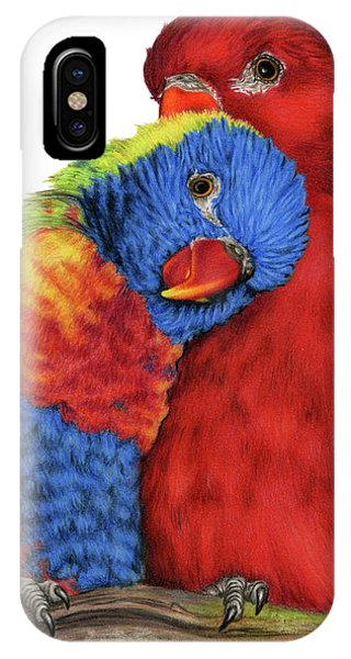 Lovebird iPhone Case - Love Will Keep Us Together by Sarah Batalka