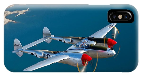 A Lockheed P-38 Lightning Fighter IPhone Case