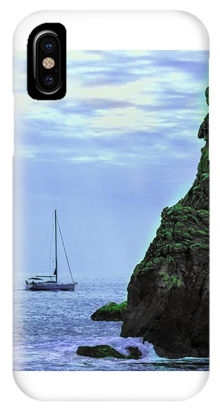 A Lone Sailboat Floats On A Calm Sea IPhone Case