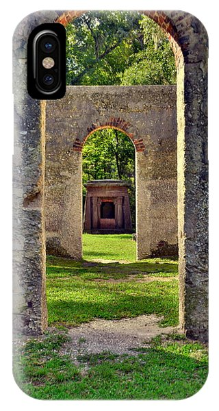 IPhone Case featuring the photograph A Look Through Chapel Of Ease St. Helena Island Beaufort Sc by Lisa Wooten